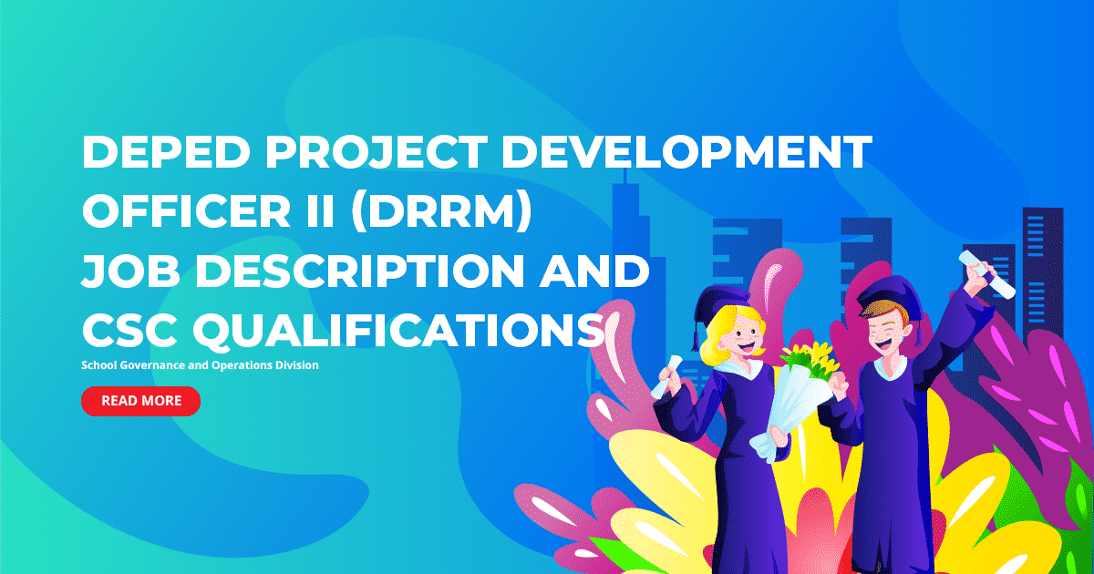 DepEd Project Development Officer II (DRRM) Job Description and CSC Qualifications