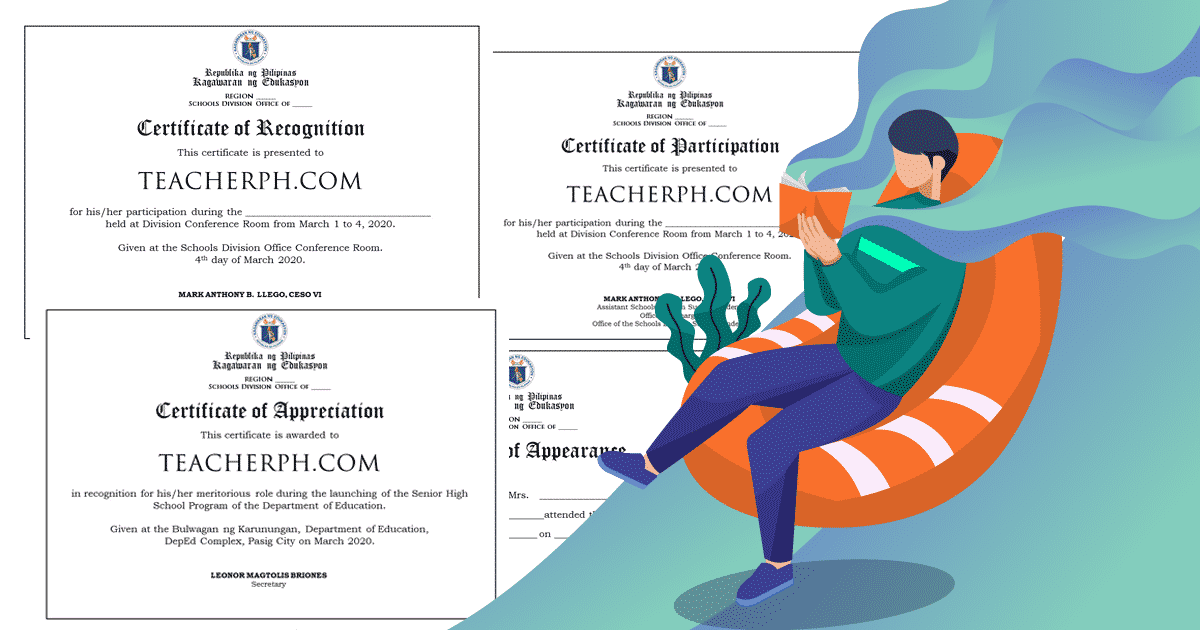 2020 Deped Standard Format And Templates For Certificates Teacherph