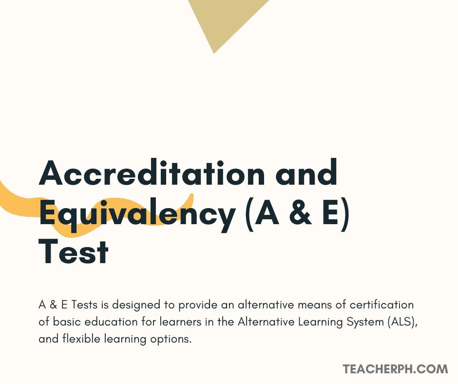Accreditation and Equivalency (A & E) Test
