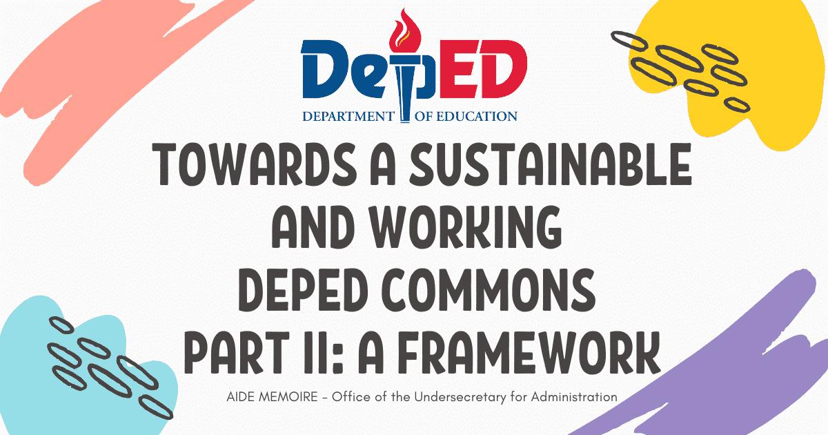 DepEd Commons Framework
