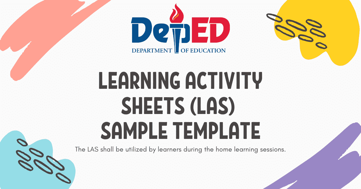 DepEd Learning Activity Sheets (LAS) Sample Template - TeacherPH