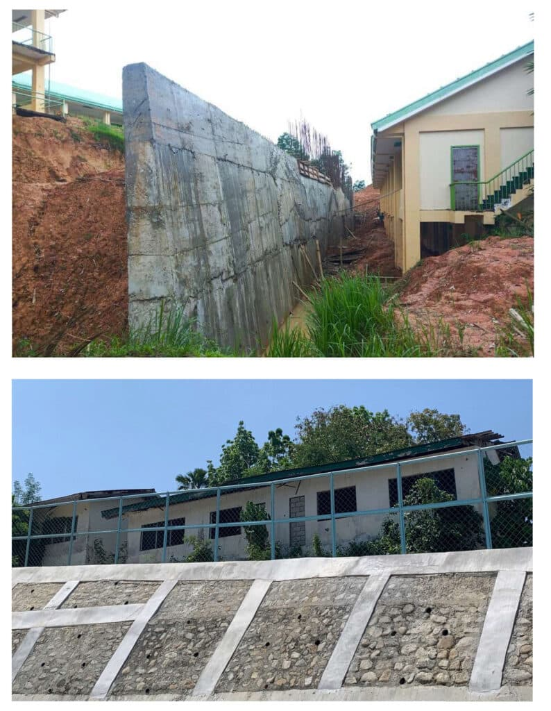 DepEd School Building Soil Slope Protection