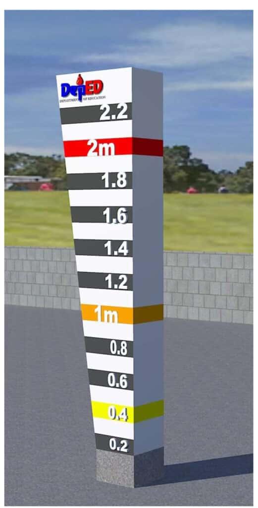DepEd Standard Design of Flood Marker