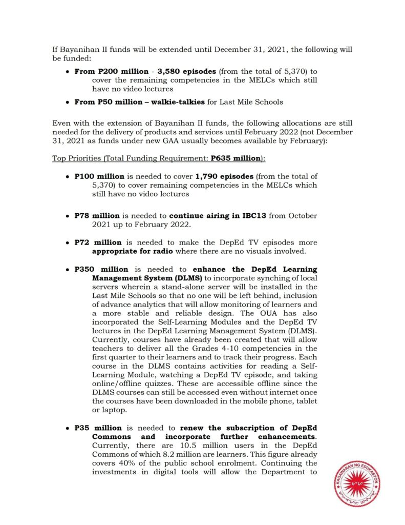 Deped TV Status and Funding Requirements for Broadcast and Online Platforms