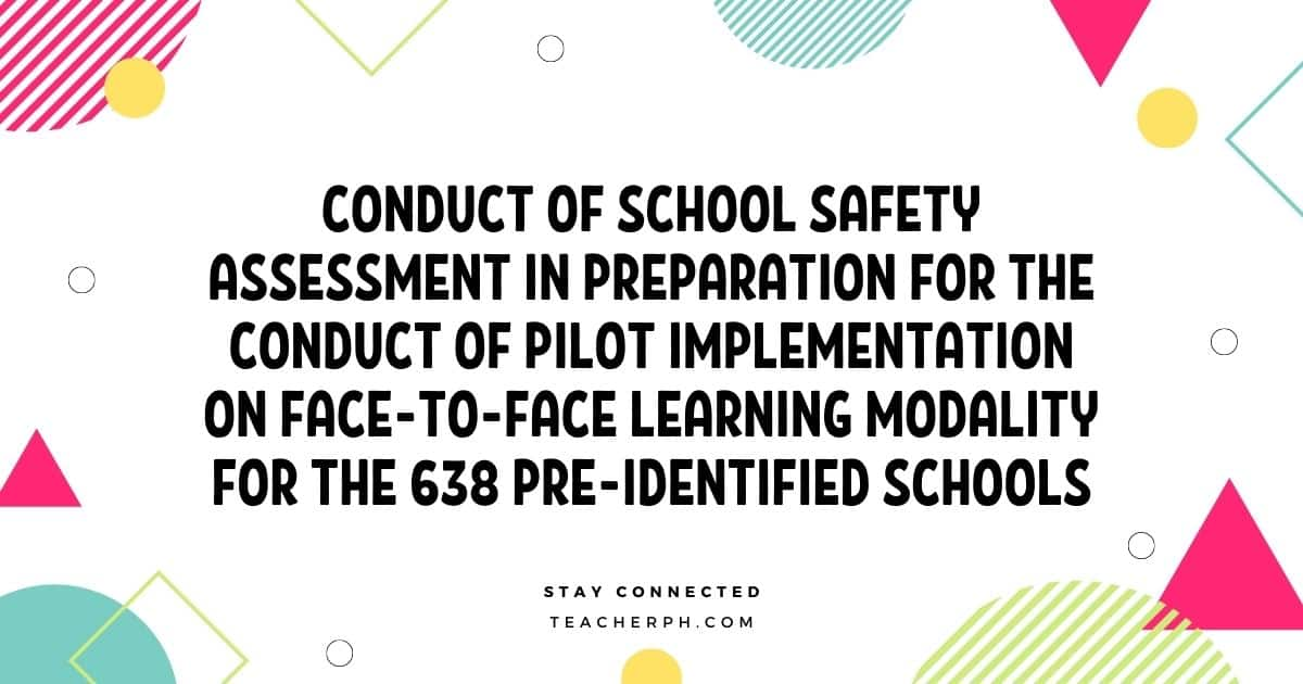 DepEd Pilot Implementation on Face-to-Face Learning Modality